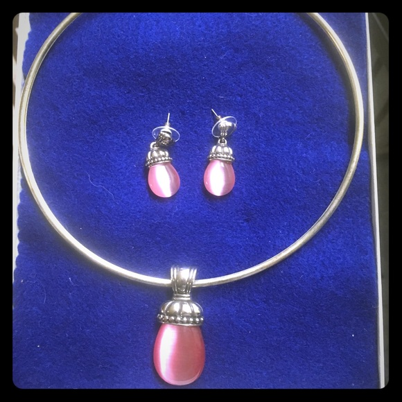Jewelry - Sasha Rose Quartz necklace and earrings
